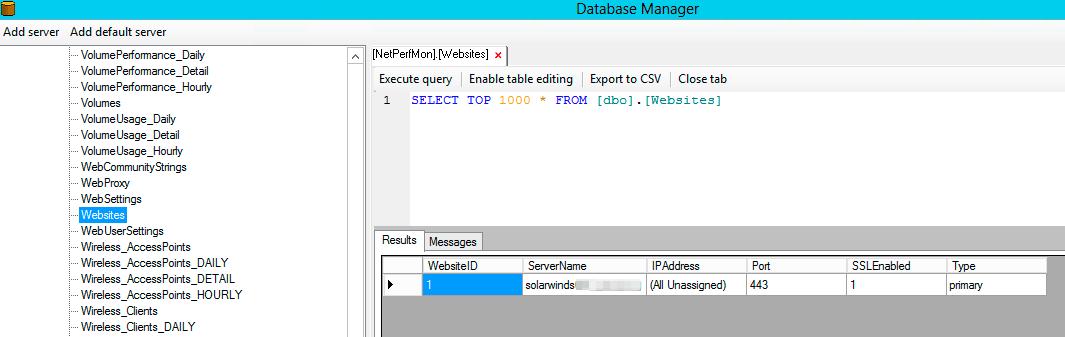 Solarwinds Database Manager